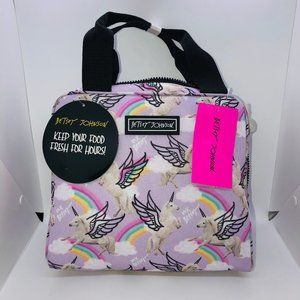 Lavender Insulated Unicorns & Rainbows Lunch Bag